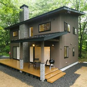 軽井沢市の別荘の施工事例